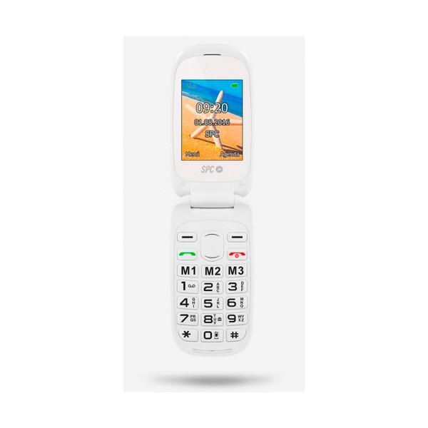 Spc 2304b harmony blanco móvil con tapa / dual sim / sos