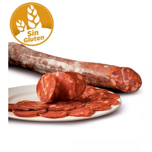 Chorizo extra producción ecológica sin gluten y sin lactosa pieza (vacío 0.32 kg. aprox.)