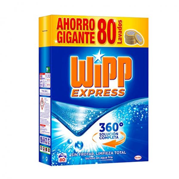 WIPP EXPRESS Detergente en polvo 80 dosis