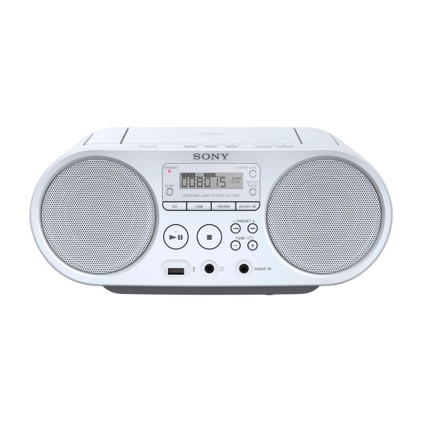 Sony zsps50w radio cd mp3 usb blanco