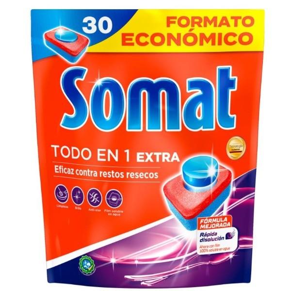 Somat lavavajillas Todo En 1 30 dosis FORMATO AHORRO