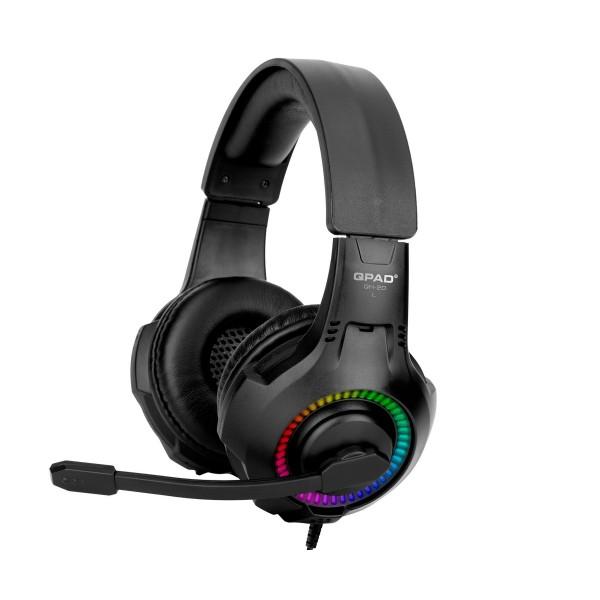Qpad qh20 negro/ auriculares multiplataforma/estéreo/rgb